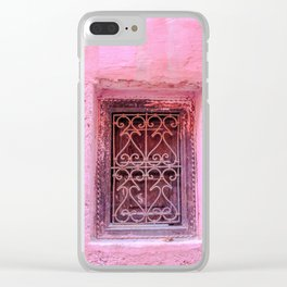 Colorful Pink Window in Morocco in Marrakech Clear iPhone Case