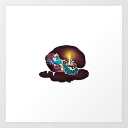 In the Lounge With the Candlestick Art Print