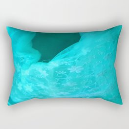 ghost in the swimming pool: aquagreen variations Rectangular Pillow