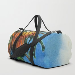 Study of a Leafy Water Dragon Duffle Bag