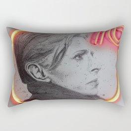 bowie neon 3 Rectangular Pillow