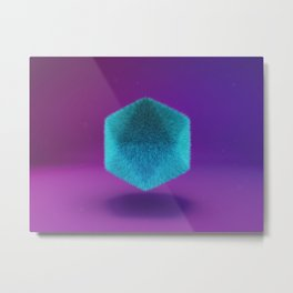 Platonic Fluffy Metal Print