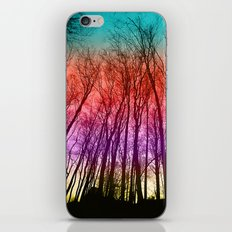 Colorful forest silhoutte iPhone & iPod Skin