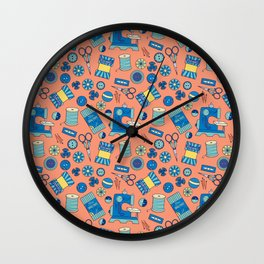Buttons and Scissors and Pins, Oh My! Wall Clock