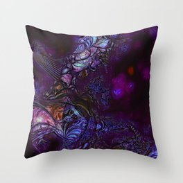 Bird of Paradise in Deep Purple Throw Pillow