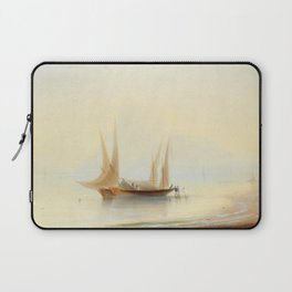 Ivan Aivazovsky - Barge at Sea Shore Laptop Sleeve
