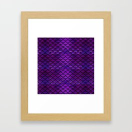 Purple & Blue Mermaid Scales Framed Art Print