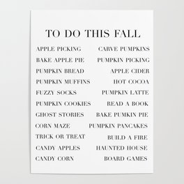 to do this fall list Poster