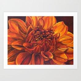 Red Dahlia 3 Art Print