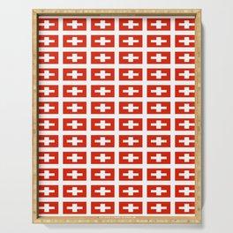 flag of Switzerland -,Swiss,Schweizer, Suisse,Helvetic,zurich,geneva,bern,godard,heidi Serving Tray