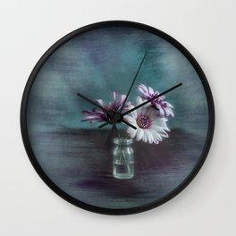 Dasies in vial Art Wall Clock
