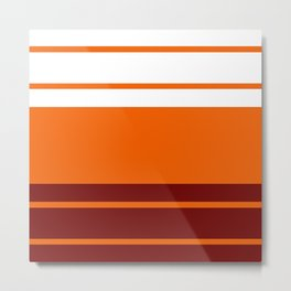 TEAM COLORS 9...Orange , maroon Metal Print
