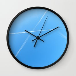 Vapor Trails Wall Clock