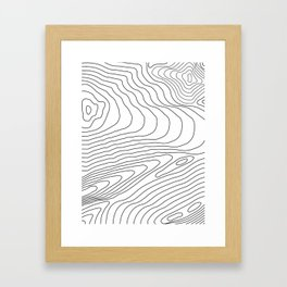 Topographic #440 Framed Art Print