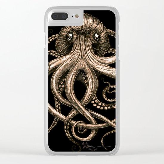 Bronze Kraken Clear iPhone Case