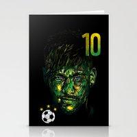 neymar Stationery Cards featuring NEYMAR JR by dan elijah g. fajardo