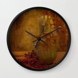 Disassembled pumpkin Wall Clock