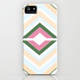 Mod stripes in Sorbet iPhone Case