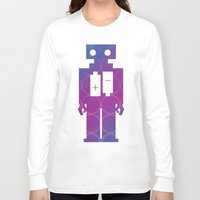 robots Long Sleeve T-shirts featuring Robots by Scar Design