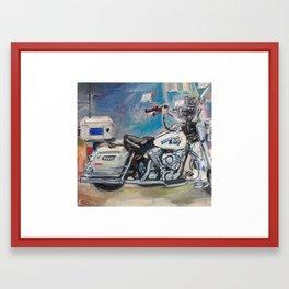 Laconia New Hampshire Motorcycle Police Bike Framed Art Print