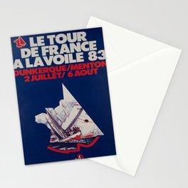le tour de france a la voile 83 vintage Poster Stationery Cards