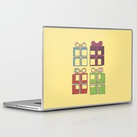 gift card Laptop & iPad Skins featuring Gift by Robert Leyen