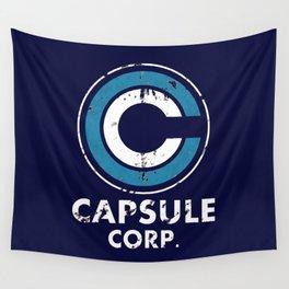 Capsule Corp Vintage dark Wall Tapestry