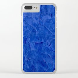 Pretty Blue Cases - Ombre - Stucco - Pillow - iPhone - Shower Curtains Clear iPhone Case