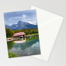Maligne Lake in Jasper Stationery Cards