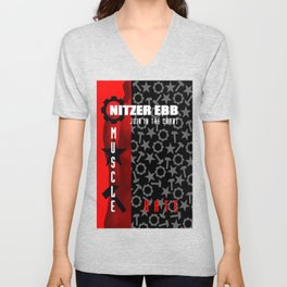 Nitzer Ebb - Join In The Chant - Muscle And Hate. Unisex V-Neck