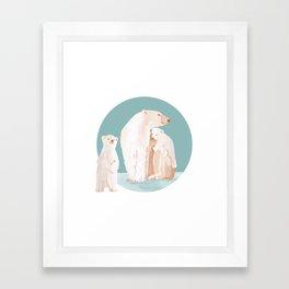 Snowy Cuddles Framed Art Print