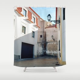 Portugal, Cascais (RR 187) Analog 6x6 odak Ektar 100 Shower Curtain