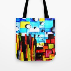 Abstract Autumn Landscape Tote Bag