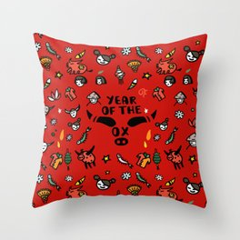 Chinese New Year | Year of the Ox Throw Pillow