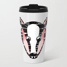 Cute Badger Face Travel Mug