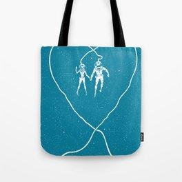 Love Space, Blue Tote Bag