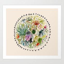 Succulents Mandala Art Print
