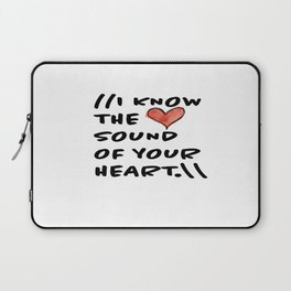 Sound of Your Heart Laptop Sleeve