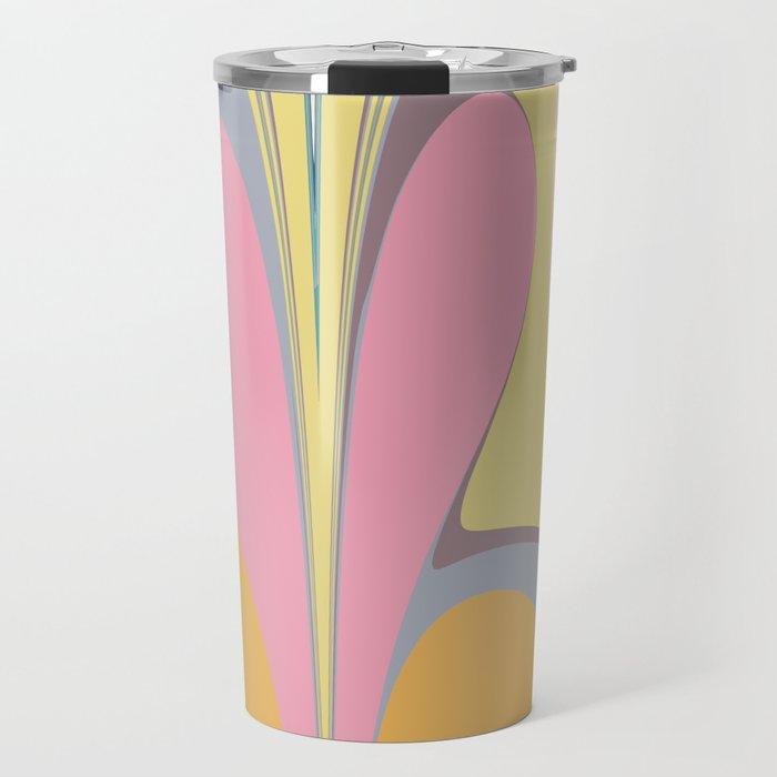 Abstract Pastel Travel Mug