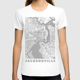 Jacksonville Map Line T-shirt