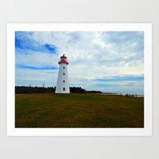 Point Prim Lighthouse and Shore Art Print