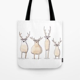 4 Chevreuils Tote Bag