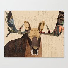Moose Collage Canvas Print