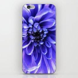 Macro Blue iPhone Skin