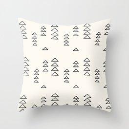 Minimalist Triangle Line Drawing Throw Pillow