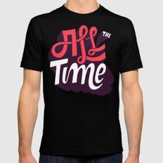 All The Time Black Mens Fitted Tee LARGE