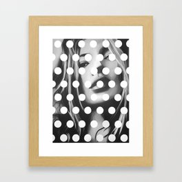 Kate Moss x Dots by Moe Notsu Framed Art Print