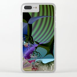 Night among fantasy plants Clear iPhone Case