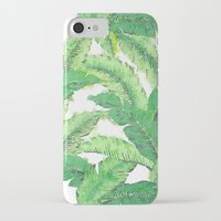 banana leaf iPhone & iPod Cases featuring Banana for banana leaf by Indulgencedecor