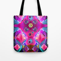 diamonds Tote Bags featuring Diamonds by thea walstra